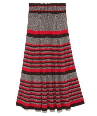 プリーツロングニットスカート