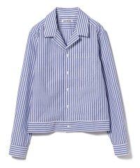 【カタログ掲載】LAQUINTANE / ストライプ パジャマシャツ