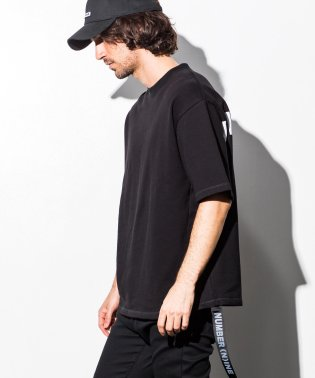 NUMBER (N)INE DENIM(ナンバーナインデニム) サイドテープ付バックロゴビッグTシャツ