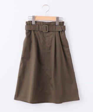 [100-130]ベルト付きミディ丈スカート[WEB限定サイズ]