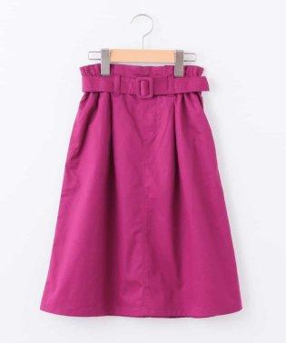 [140-150]ベルト付きミディ丈スカート