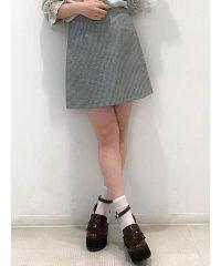 ギンガムチェックミニ台形スカート