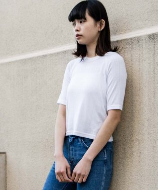 L8 SS CROPPED TEE BRIGHT WHITE