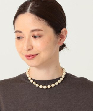 Demi-Luxe BEAMS / バッロックパール ネックレス <ショート>