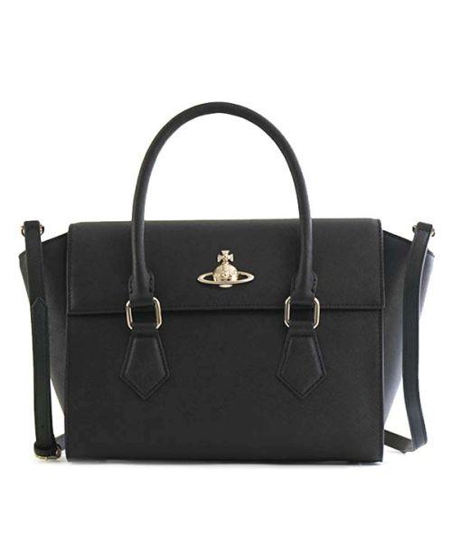 【Vivienne Westwood】42020035 PIMLICO ハンドバッグ BLACK