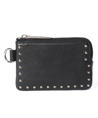 Leather coin case 'corner studs' KS
