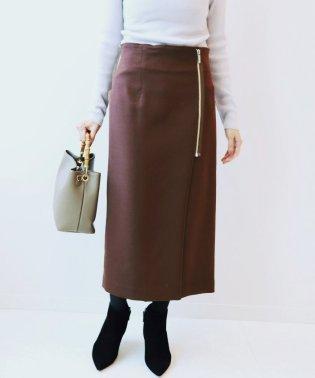 PE/RY/W ジップタイトスカート◆