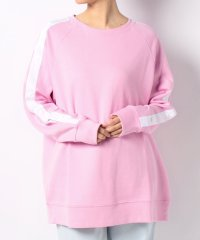 SNAP TAPE SWEATSHIRT PALE PINK BODY/OFF
