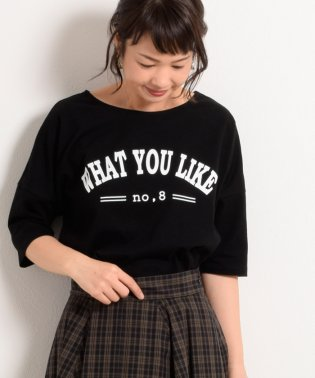 WHAT YOU LIKEプリント5分丈カットソー