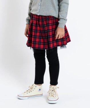 SHIPS KIDS:チェック×チュール スカート(100~130cm)