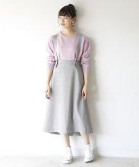 【2WAY】チェックロングフレアスカート ( ジャンパースカート )