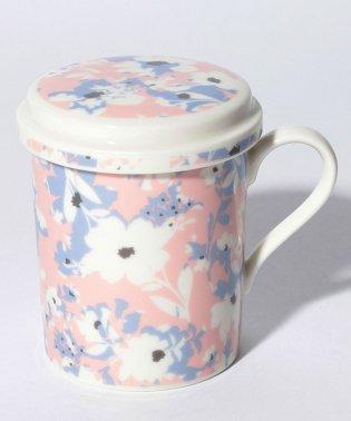 フラワー柄フィルター付きマグカップ