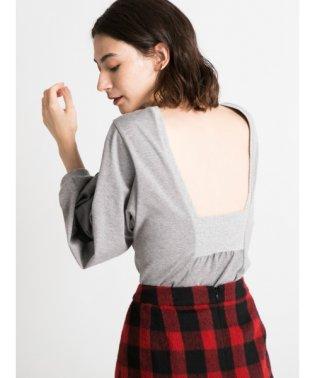 Volume sleeve cut tops