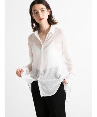 Dot chiffon shirt
