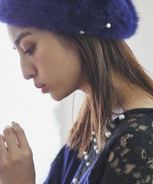 【andGIRL11月号掲載】パールピン付アンゴラベレー帽
