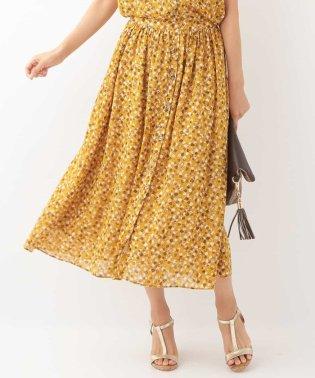 【セットアップ対応/洗濯機で洗える】小花柄スカート