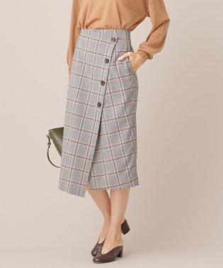 【MORE 12月号掲載】【GINGER 11月号掲載】TRチェックラップスカート