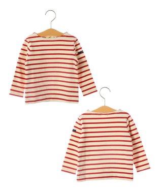SHIPS KIDS:マリン ボーダー ボートネック バスクシャツ(80~90cm)