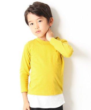パックT★クルーネック無地長袖Tシャツ
