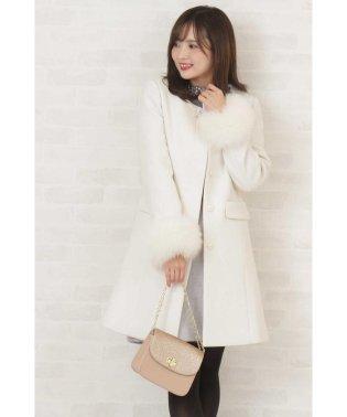 【美人百花 11月/CanCam 12月号掲載】◆ファーポケットノーカラーコート