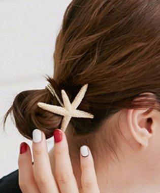 スターフィッシュ ヘアゴム レディース 珊瑚 アクセ 髪飾り ヒトデ ヘアアクセサリー 即納