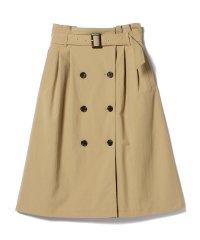 Ray BEAMS / トレンチ ディティール スカート