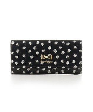 フラワープリントかぶせ財布