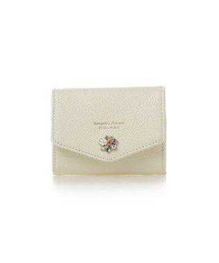フラワービジューレターシリーズミニ財布