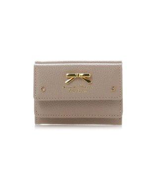 シンプルリボンプレートシュリンクレザーバージョンミニ財布
