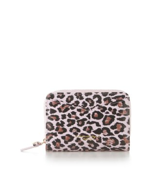 レオパード柄ラウンド折財布