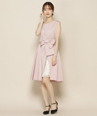 《Ruban de WILLSELECTION》グログランオーバースカート付ドレス