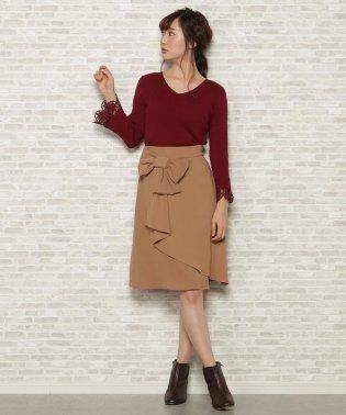 アシメトリーリボンスカート