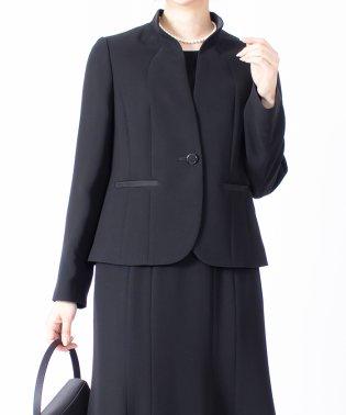【オールシーズン・喪服・礼服・フォーマル用】サテンエレガントジャケット