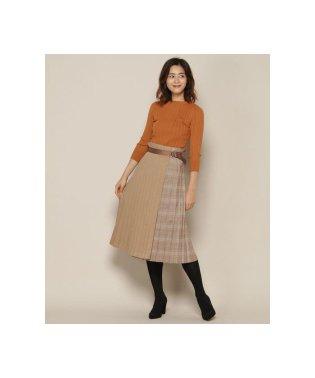 プリーツ巻きスカート