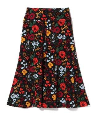 Demi-Luxe BEAMS / フラワープリント フレアスカート
