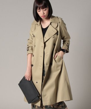 ultimate pima twillmaxilong trench coat