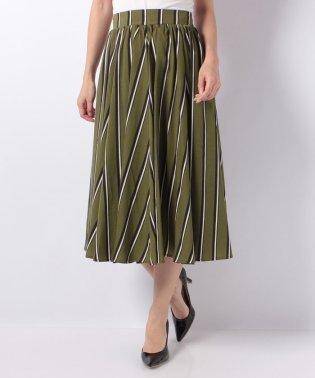 ギャザーマルチストライプスカート