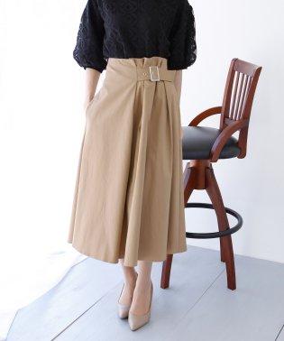 《BLUEEASTオリジナル》サイドベルトデザインフレアースカート