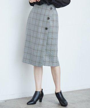 ウーリッシュフラノチェックタイトスカート