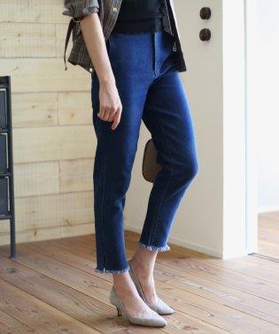 【WEB限定】クラシックなレトロシルエットが可愛い◇裾スリットスキニーパンツ