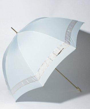 【晴雨兼用傘】 パールリボン 長傘  (UVカット&軽量)