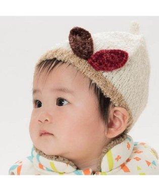 木の葉ベビーニット帽子
