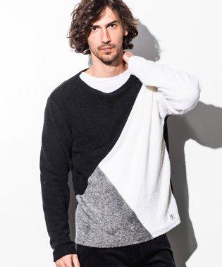 AZ by junhashimoto(エーゼイ バイ ジュンハシモト) Tシャツ付ブロッキングカラーニット