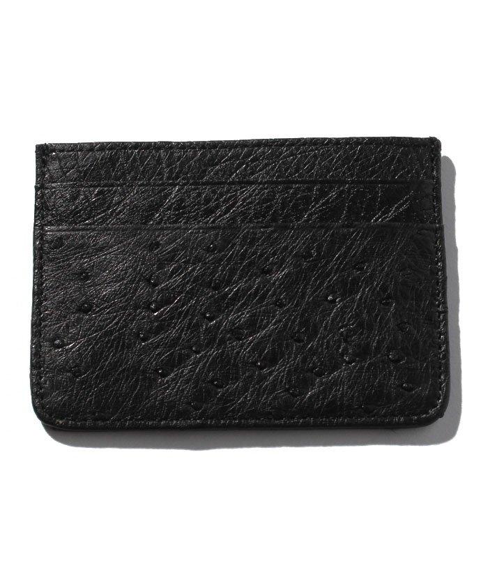 (addy selection/アディセレクション)【ostrich】オーストリッチ ハーフポイント カードケース/ユニセックス ブラック