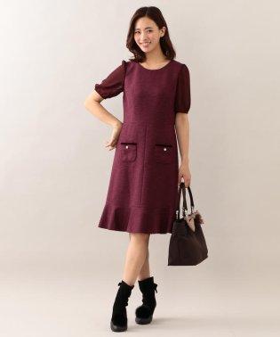 スラブツイードドレス