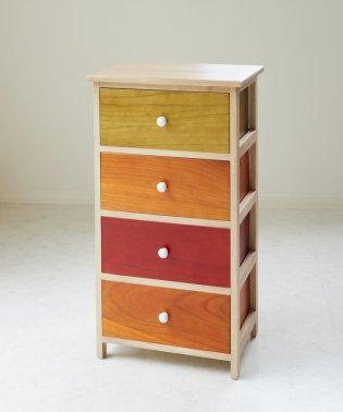木製4段チェスト(カラー)