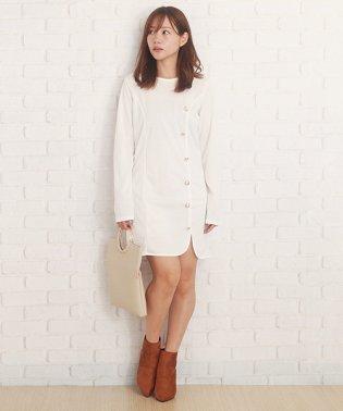 長袖マルチボタンドレススリム秋大人セクシー ファッションレディース【vl-5271】【A/W】