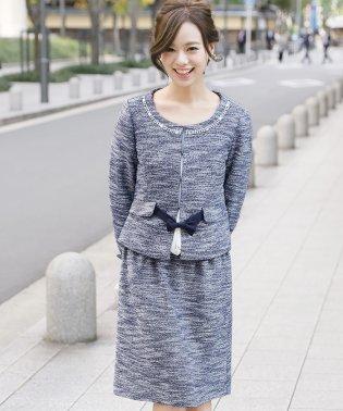 【入学式・卒園式】2点セットカットジャガードリボンスーツ