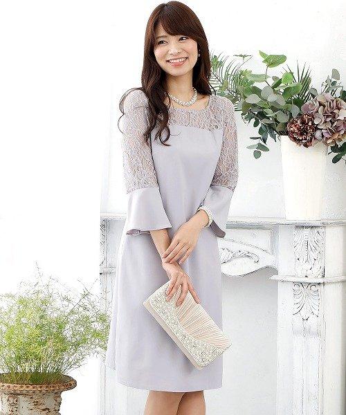 03321976e8225 ☆西山茉希さん着用☆ 結婚式・お呼ばれ対応ドレス ベルスリーブレース ...