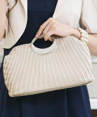 【結婚式・お呼ばれ対応】ビジューが煌めくエレガントなハンドバッグ